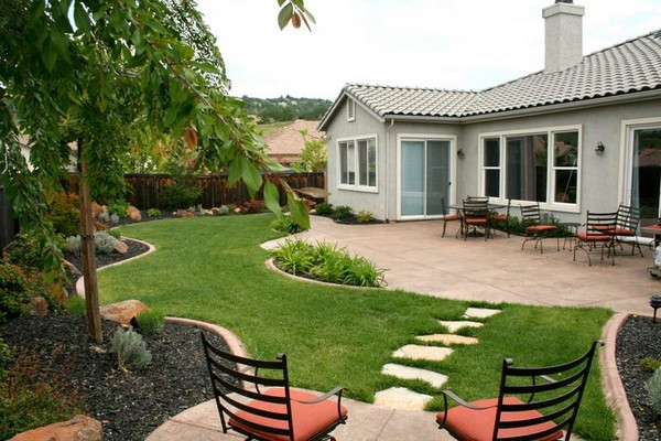 Landscaping Ideas For Front Yards And Backyards Planted Well - Backyard landscape ideas