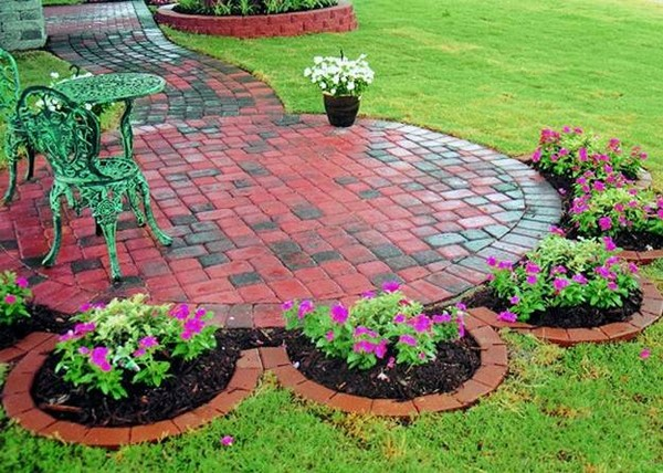 Garden Ideas With Bricks 37 creative lawn and garden edging ideas with images - planted well