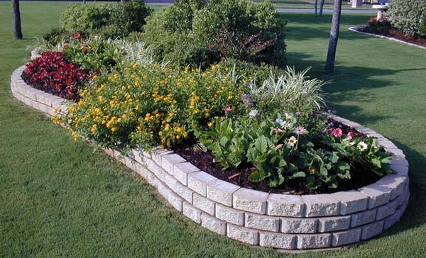 Garden Borders And Edging Ideas sandstone garden edging ideas australia Concrete Border Landscape Edging Ideas