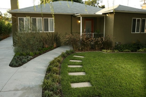 Contemporary Front Yard Landscape