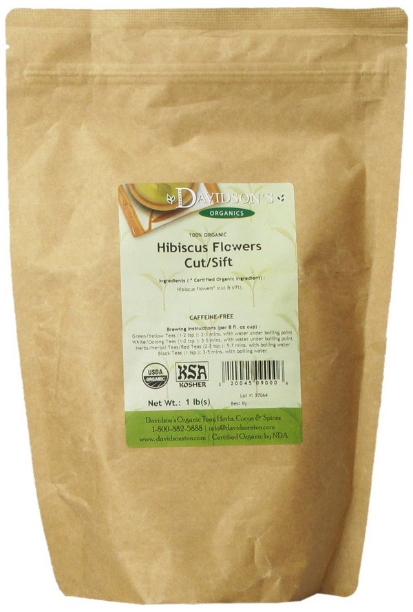 Davidson'S Tea Organic Hibiscus Cut And Sifted