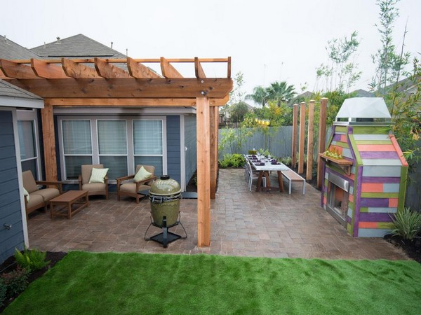 Modern Backyard Garden Ideas : 100 Landscaping Ideas for Front Yards and Backyards  Planted Well
