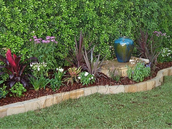 garden borders and edging. Sandstone Garden Edging Ideas Australia Borders And
