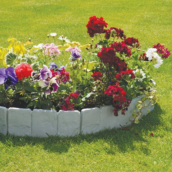 Landscaping plastic borders : Creative lawn and garden edging ideas with images planted well