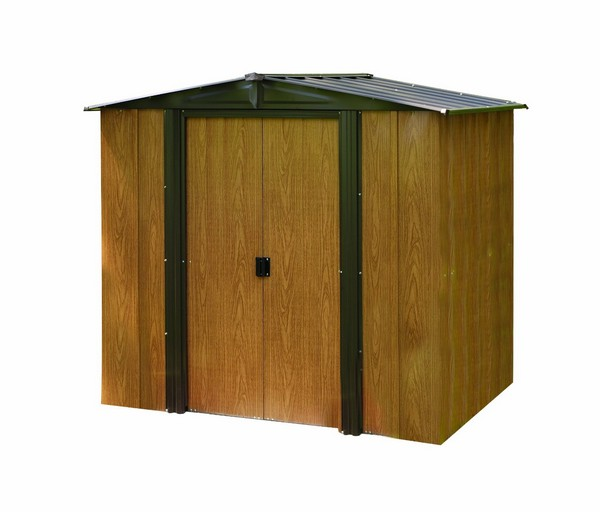 Arrow Woodlake Steel Garden Shed
