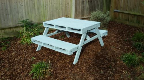 Beautiful Garden Picnic Bench Tables And Designs Planted Well