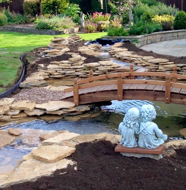 41 inspiring garden water features with images planted well for Garden designs with water features