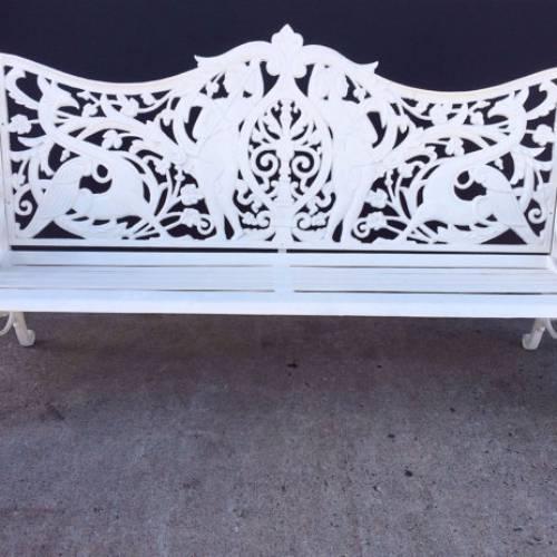 Vintage Victorian Cast Iron Garden Bench