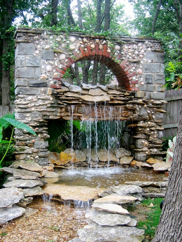 backyard fountains ideas outdoor fountain and small pond for unique garden designs and attractive backyard landscaping