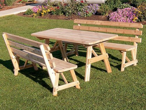 Picnic Bench: 16 Stunning Picnic Bench Designs and Tables [2018]