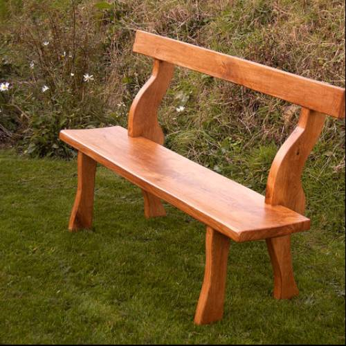 Rustic hand made Oak Garden Bench