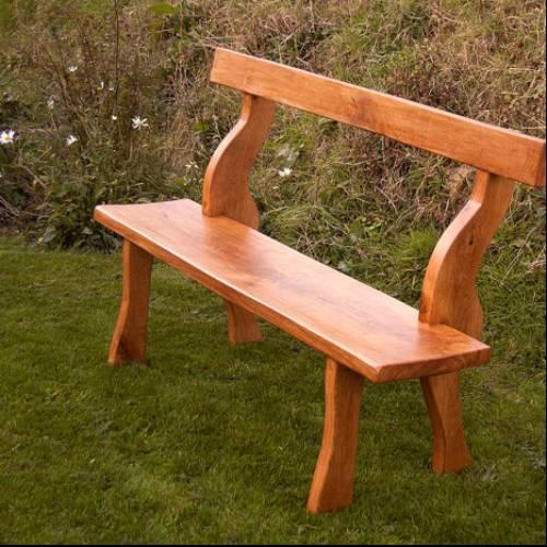 Rustic hand made Oak Garden Bench