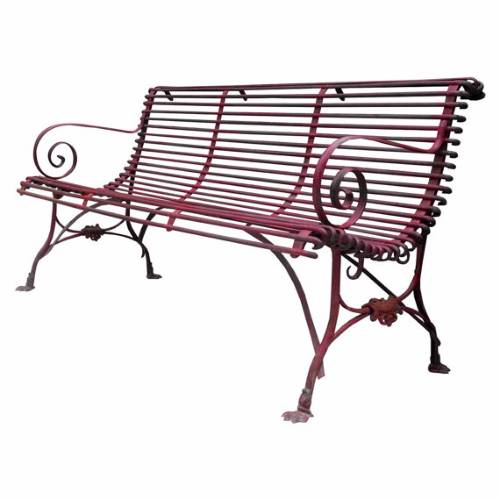 Belle Style Epoque Wrought Iron Garden Bench