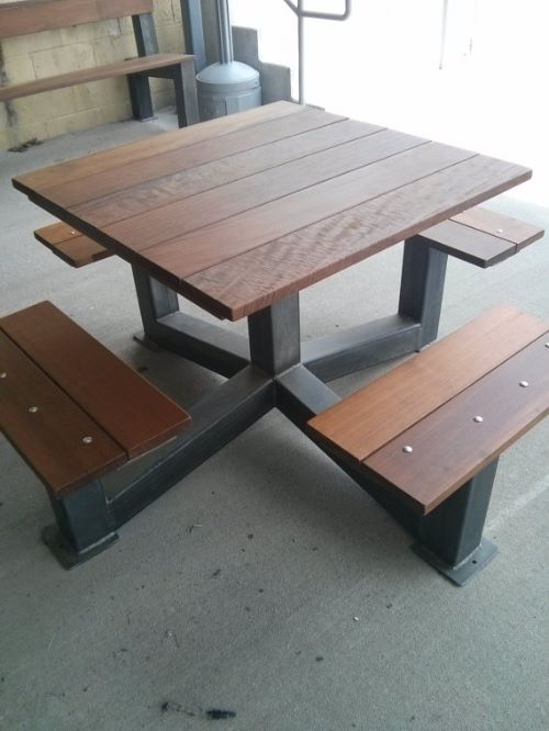 Picnic Bench Stunning Picnic Bench Designs And Tables - Metal wood picnic table