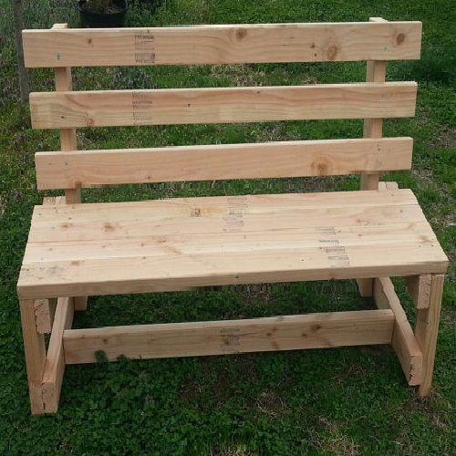 White Wood Garden Bench