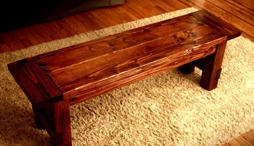 Indoor Wooden Bench - Planted Well