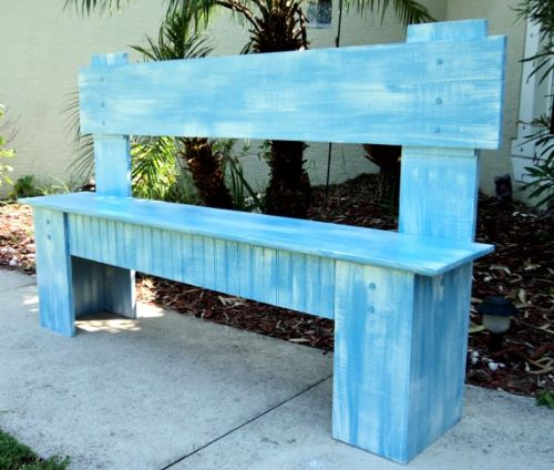 Rustic Wooden Bench for Country Cottages and Lake Houses - Price: $230 - Get it from Etsy