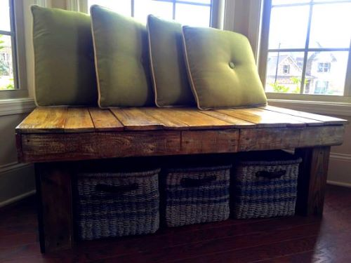 Wooden Bench Seat Indoor