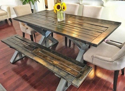 Reclaimed Wood Trestle Style Table How To Build
