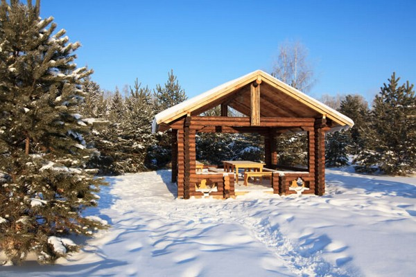 Log Cabin Gazebo