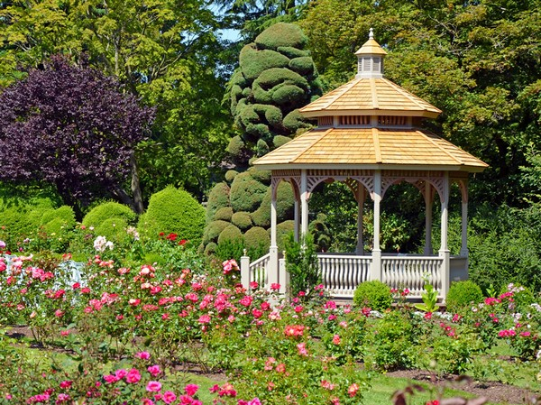 A Gazebo Such As This One Will Truly Complete Your Garden. This Little  Gazebo Has A Complex Design Yet It Looks Impressive In Off White.
