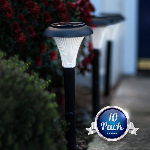 battery operated outdoor lights planted well. Black Bedroom Furniture Sets. Home Design Ideas