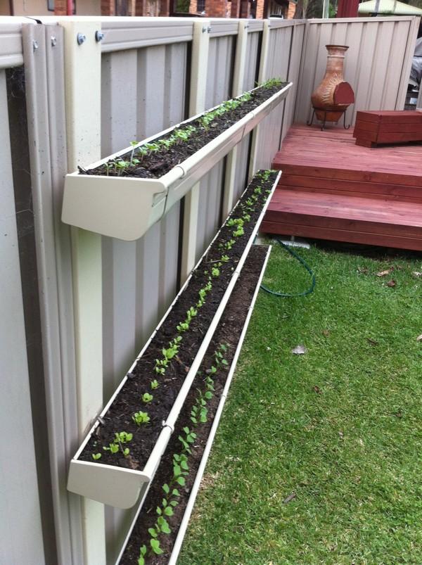 Vertical Gardening Gutters