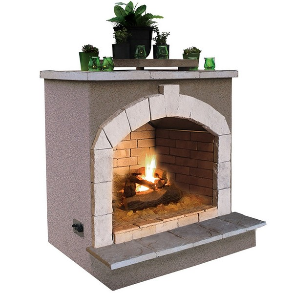 Cal Flame Unfinished Contractor Outdoor Fireplace