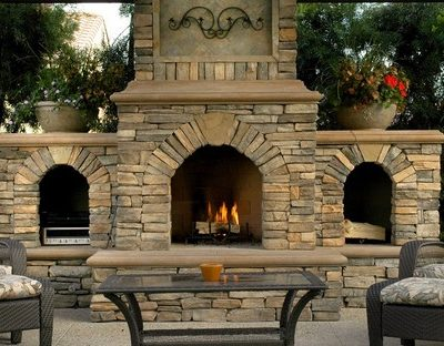31 Unique Designs, Ideas and Kits Outdoor Fireplace