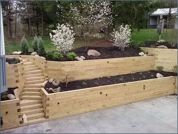 15 Unique Landscaping Timber Projects and Ideas Planted Well