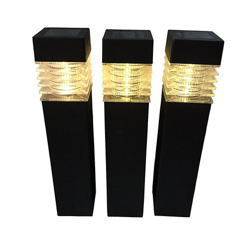 Sogrand Solar Square Bollard Garden Lights