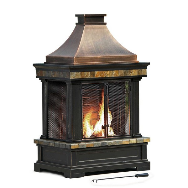 sunjoy dixon best outdoor fireplace kits planted well rh plantedwell com Outdoor Stone Fireplaces Best Outdoor Fireplace Designs