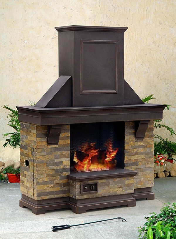 patio fireplace diy kit kits outdoor outside stone