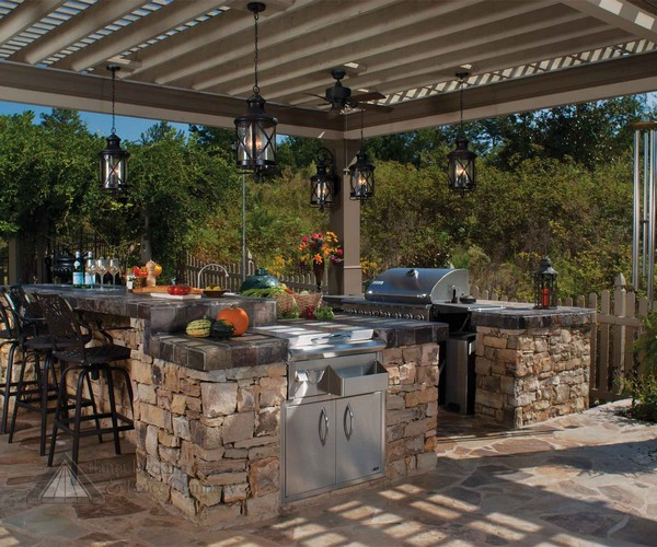 Outdoor Kitchens Designs With Pergolas 31 Amazing Kitchen Ideas  Planted Well