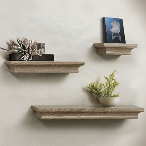 Lightstan Decorative Floating Wooden Wall Display Shelf Small