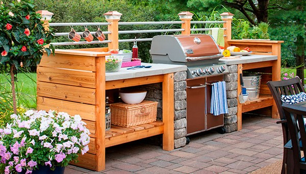 31 amazing outdoor kitchen ideas planted well for Cheap outdoor kitchen designs