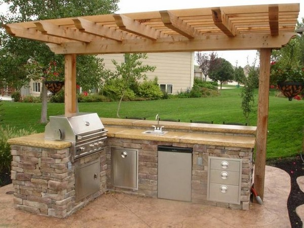 outdoor kitchen kits steel frame outdoor kitchen kits 31 amazing ideas planted well