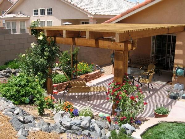 Wooden Pergola Backyard Idea