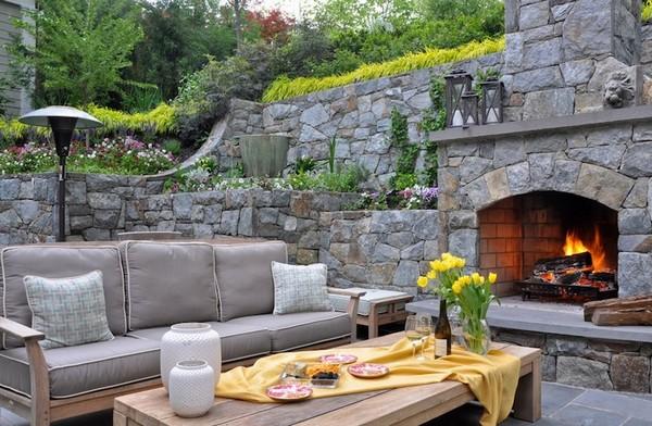 Rock Landscaping Backyard Idea