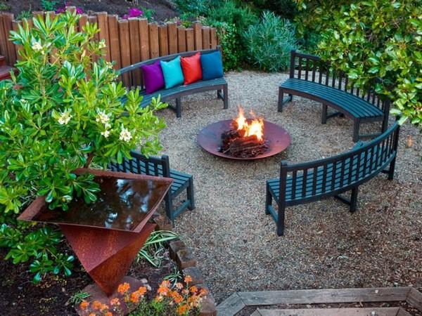 Fire Pit Backyard Idea Without Grass
