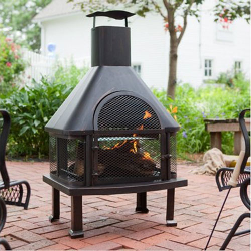 Outdoor Fireplace Ideas: Top 10 Outdoor Fireplace Kits ... on Backyard Chiminea Ideas id=45456