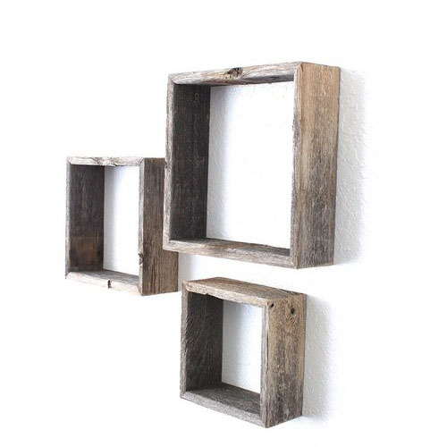 Charmant ... A New Modern Geometric Floating Wall Shelf In Intersecting Squares ...