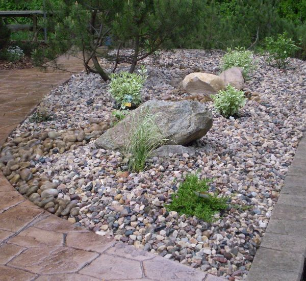 landscaped rock garden