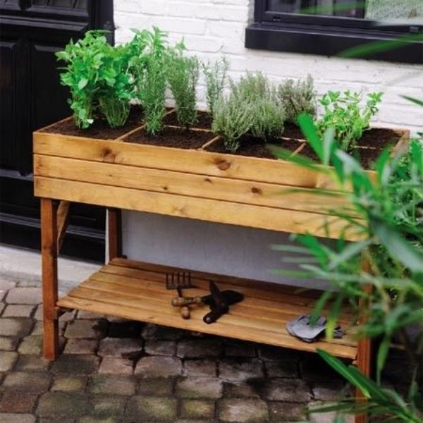 Raised Garden Bed For Herbs