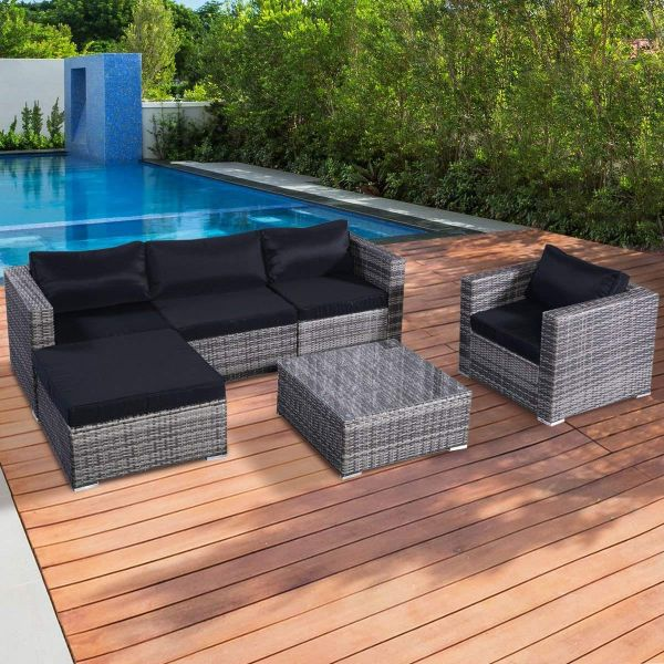 Garden Furniture Grey Rattan