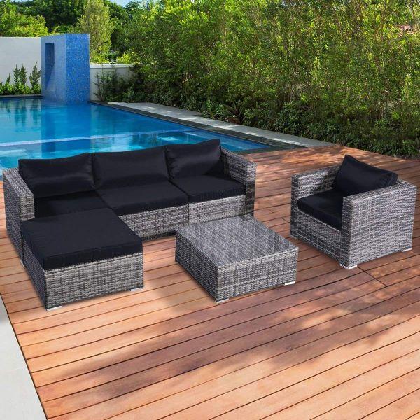 Garden Furniture Grey Rattan