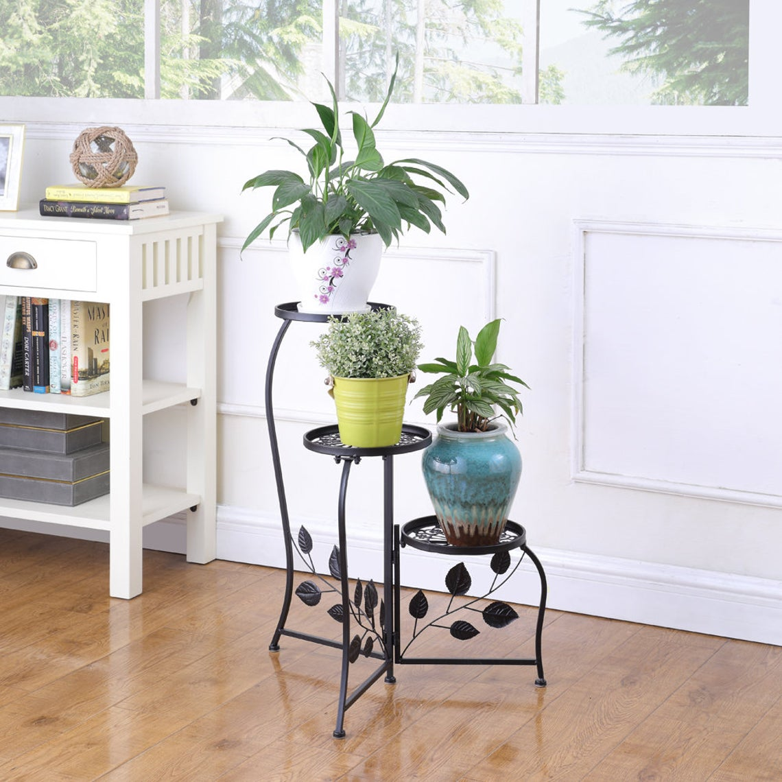 plant stand black metal