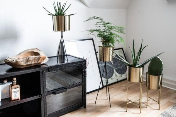 Plant Stand Brass