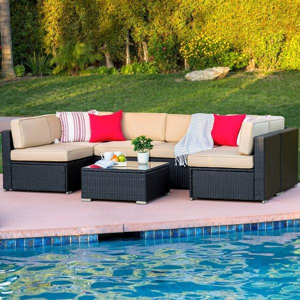 Best Choice Rattan Garden Furniture Corner Sofa