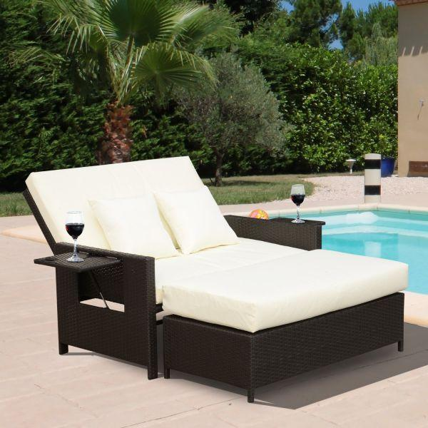 Cheap 2 Piece Outsunny Rattan Garden Furniture